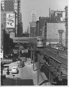 """Chicago - The """"el"""" 1940's"""