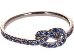 Wedding Rings for Women: Diamond Eternity Bands & More - iVillage Sapphire Love Knot Ring