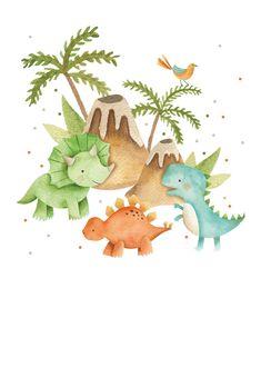 Dinos & volcanos - Invitación De Cumpleaños | Greetings Island Dinosaur Birthday Party, Birthday Balloons, Baby Birthday, Die Dinos Baby, Baby Dino, Spiderman Invitation, Spa Day Gifts, Romantic Birthday, Birthday Invitation Templates