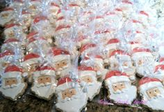 Santa cookie favors