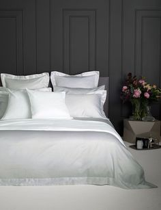 Luxury Silver 600 Thread Count bed linen. The ultimate is decadent, comfortable sleep.
