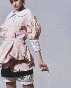 Sasha Pivovarova by Willy Vanderperre for V Magazine Spring 2006