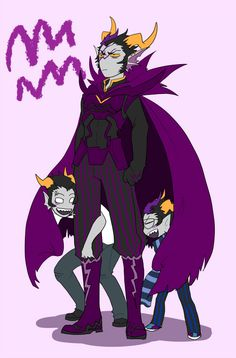 Okay so Eridan and cronus are all screwing around, and it looks like dulscar is either annoyed or trying to look tough.....hmmm