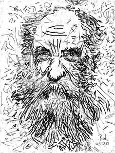 Charles Koechlin - French composer - iPadart by Rob van Doeselaar