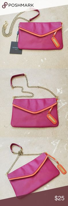 """Cynthia Rowley Pink Crossbody Clutch Bag I am selling a pretty and preppy, Cynthia Rowley Handbag.  This will definitely add the perfect color """"Pop"""" to any outfit.  BNWT this has never been worn in perfect condition.  The gold Crossbody chain can be removed so you can 3 ways.  As a Crossbody Bag, a Clutch or a  Shoulder Bag, you decide!! The perfect size to hold everything you need. Cynthia Rowley Bags Clutches & Wristlets"""