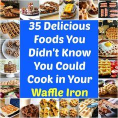Easy recipes!! 35 Delicious Foods You Didn't Know You Could Cook in Your Waffle Iron