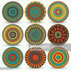 Vector Art : set of circle ethnic elements
