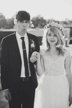wedding whimsy, photo by Ashley Kickliter http://ruffledblog.com/alabama-railyard-wedding #weddingportrait