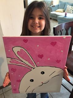 Easter Bunny Painting for Kids
