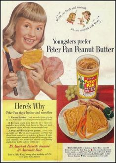 Vintage Peter Pan Peanut butter ad