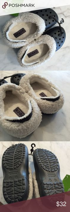 Crocs Mammoth Slippers Graphite color with soft liner. Brand new! Crocs Shoes Slippers
