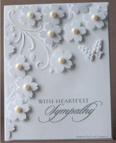 All white - change the sentiment - could be wedding or anniversary.