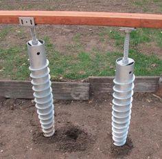 ... Pour Terrasse Bois Sans Plots, Sans Dalle Béton. Vis De Fondation  Réglable 800 X 89 Mm