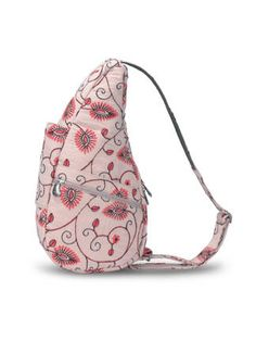 d48ac692d2bf AmeriBag Contemporary Pintuck Floral Healthy Back Bag - Small Back Bag