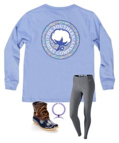 """""""School outfit"""" by madison-mills-1 on Polyvore featuring NIKE and Sperry"""