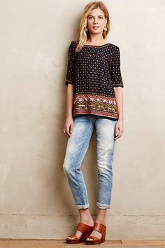 7 For All Mankind Josefina Skinny Boyfriend Jeans - anthropologie.com #anthrofave #anthropologie