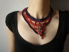 Achillea Millefolium - Freeform Beaded Crochet Necklace by irregularexpressions, $168.00