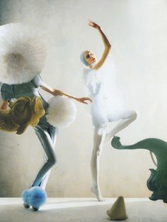 """ 'a magic world': alice gibb & olga sherer in balenciaga and jil sander ss08; photographed by tim walker for vogue italia, january 2008 """