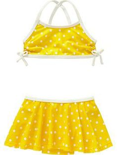 Old Navy Skirted Polka-Dot Bikinis for Baby.love the yellow color! Baby Swimsuit, Little Baby Girl, Old Navy Skirts, Polka Dot Bikini, Maternity Wear, Swimsuits, Bikinis, Girls Wear, To My Daughter