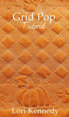 Grid Pop, Pumpkin Free Motion Quilting free tutorial