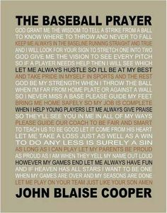 The Baseball Prayer personalized 11 X 14 by on Etsy. Works for Softball! Baseball Crafts, Baseball Quotes, Baseball Party, Baseball Season, Sports Baseball, Baseball Stuff, Basketball, Baseball Quilt, Travel Baseball