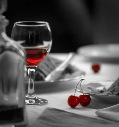 Wine & Cherries Color Splash
