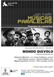 #musica #lpgc #laspalmas #concierto 03/05: Mondo Diávolo en San Martín CCC