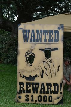 Wanted Poster Photo Op: catch my party