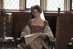 """""""Wolf Hall"""", TV series, Claire Foy as Anne Boleyn. Tudor Fashion, Fashion Tv, Fashion Books, Tudor Costumes, Period Costumes, Anne Boleyn Tudors, Tudor Dress, Wolf Hall, Historical Women"""