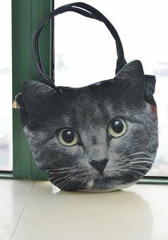 Gato bolsa, totalizador de la amante del gato, gato bolsa retrato, totalizador impresión gato, bolsa amante del animal doméstico, retrato de...