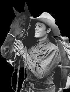 """Allan """"Rocky"""" Lane, my favorite cowboy, & Blackjack"""