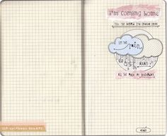 I'm coming home, tell the world I'm coming home. Let the rain wash away all the pain of yesterday Notebook Doodles, Im Coming Home, My True Love, Art Journal Pages, Hand Lettering, Card Making, Typography, Letters, Songs