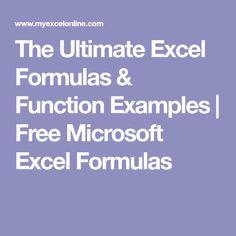 The Ultimate Excel Formulas & Function Examples | Free Microsoft Excel Formulas