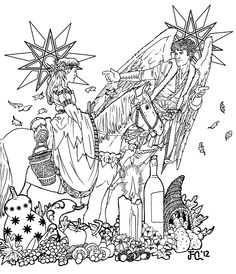 spring equinox coloring pages | deviantART: More Like Drawing down the Moon by ...