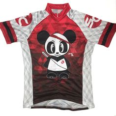 Panda themed cycling jersey.