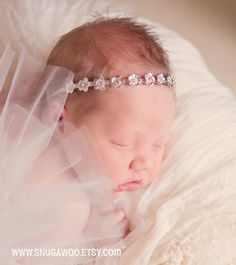 Rhinestone Headband, baby crown, baby blessing, blessing dress, Newborn headband,newborn girl, baby girl, newborn pictures, newborn photo