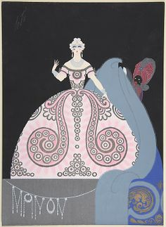 "Erte Costume Design for ""Manon,"" Chicago Opera Company, 1922"