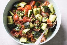 Persian Tomato and Cucumber Salad (Shirazi Salad) from Christopher Kimball's Milk Street Savory Salads, Appetizer Salads, Easy Salads, Appetizers, Cucumber Yogurt, Cucumber Salad, Kitchen Recipes, Cooking Recipes, Keto Recipes