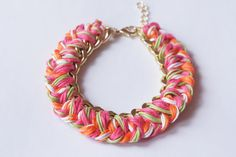 DIY: Woven Curb Chain Bracelet | INTO MIND