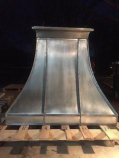 Zinc Hood, Range Hood for La Cornue, Fan Included, Custom Sizes,All Metals avai