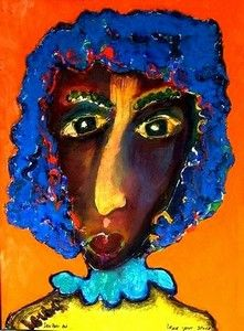 """Miss Duraline"" by Laurens Barnard African American Artist, African Art, American Artists, Dark Skin Girls, Woman Wine, Outsider Art, Artsy Fartsy, Online Art, Art Decor"