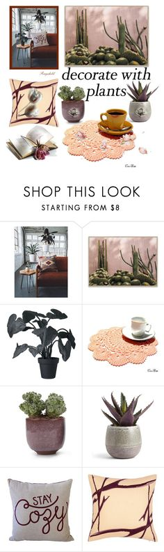 """""""Grow a Little:Planters☘️"""" by ragnh-mjos ❤ liked on Polyvore featuring interior, interiors, interior design, home, home decor, interior decorating, Wandschappen, Daytrip and Kensie"""