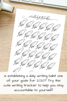 Is 2020 the year you finally tackle that goal of writing every day? Keep motivated with this cute monthly writing tracker!