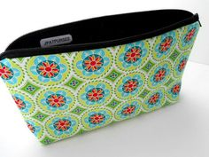 Large Padded Cosmetic Bag Flat Bottom Zipper Pouch by JPATPURSES