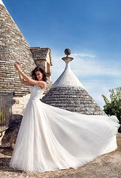 eddy k 2018 bridal spagetti strap scoop neckline heavily embellished bodice tulle skirt romantic a  line wedding dress chapel train (fiore) mv -- Eddy K 2018 Wedding Dresses