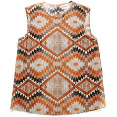 Joanie Tank - Orange Kilim