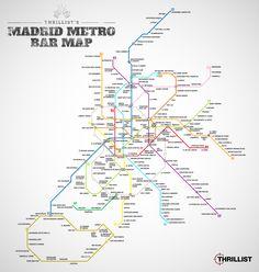 EL metro de Madrid. En bares...