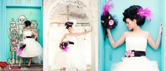 Love the touch of whimsy #black #wedding