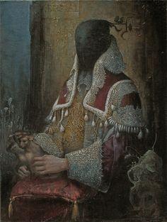 """agostinoarrivabene:    Agostino Arrivabene  """"du mal"""" 2011  oil on linen cm 74 x 53"""