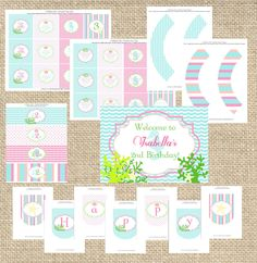 Mermaid Under The Sea Party Decorations-PRINTABLE Party Collection- By A Blissful Nest. $35.00, via Etsy.